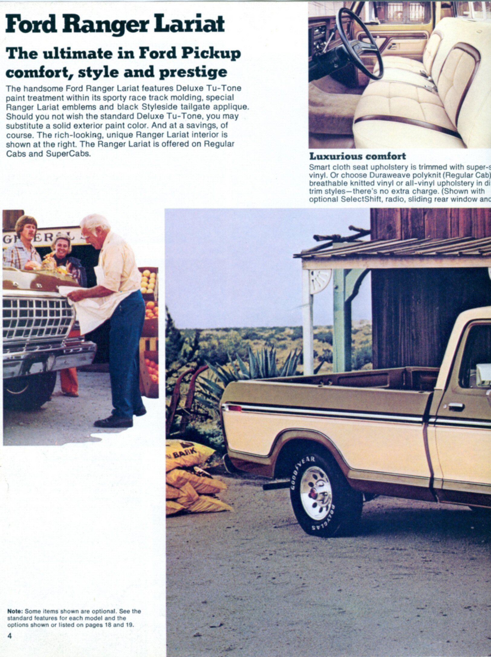1979 Ford Truck Brochure Classic Trucks Pinterest F100 Radio Trim