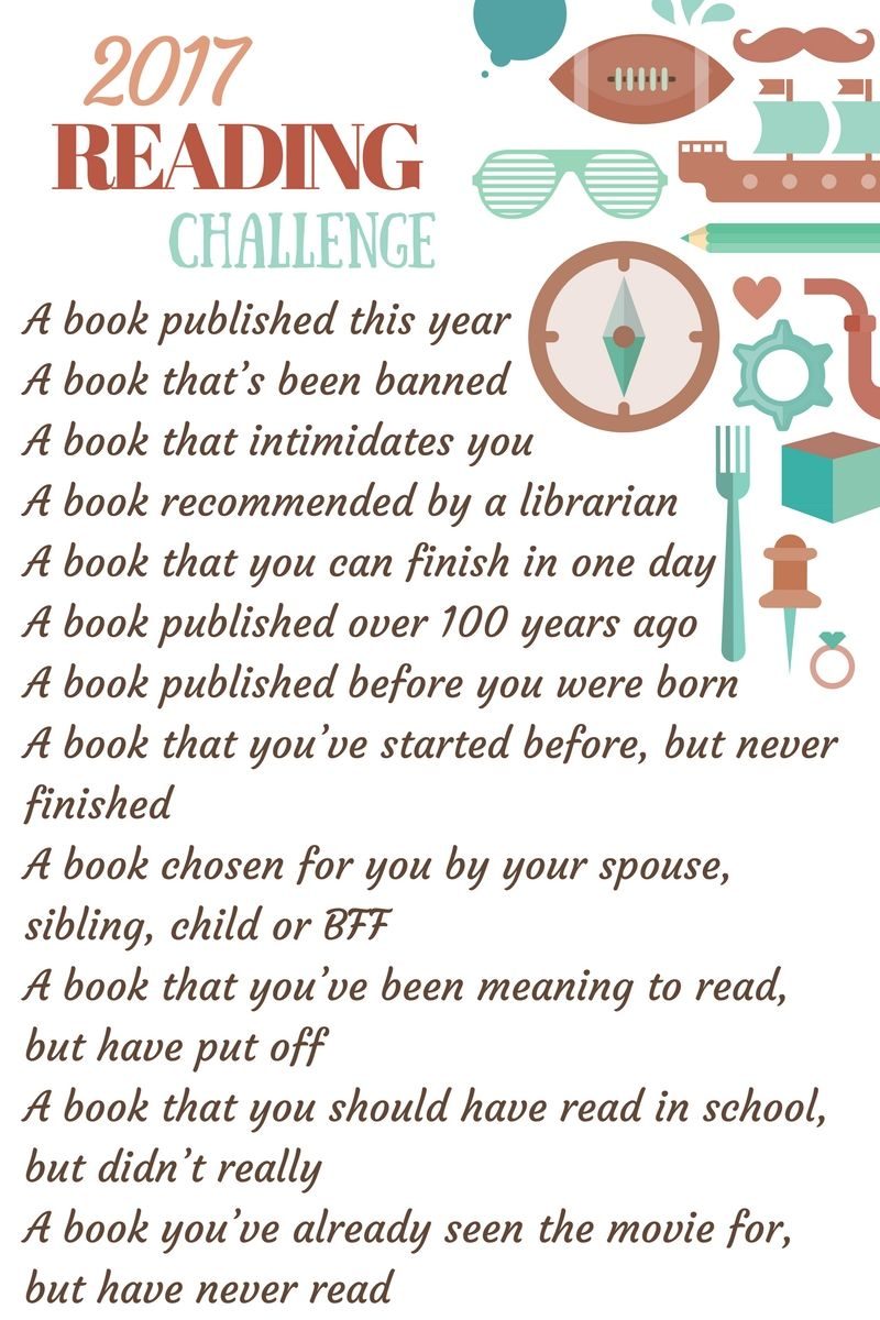 Who\u0027s up for a challenge? You only have to read one book a month ...