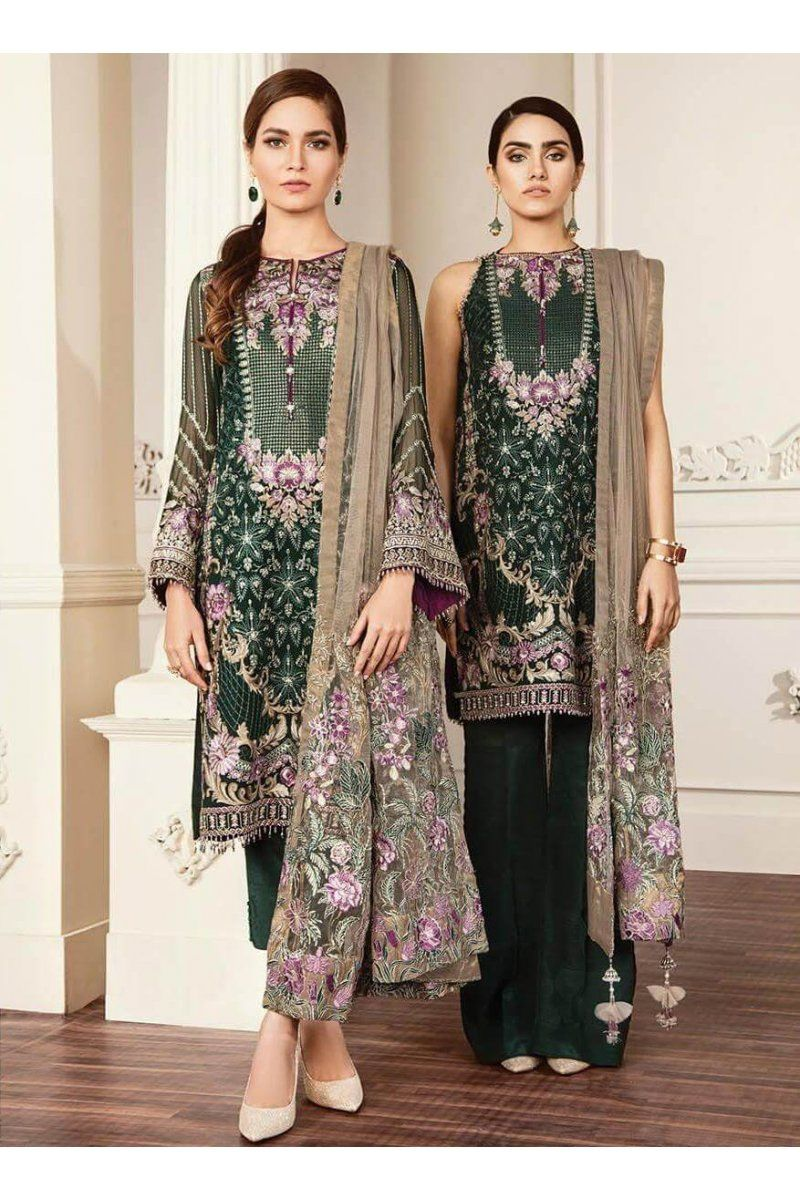 3d812a8ac5 Chantelle Embroidered Vol-5 By Baroque Chiffon Collection Venus-05  Pakistani Party Wear,