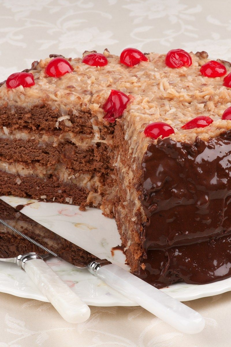 German Chocolate Cake Recipe DIY Ideas Pinterest German