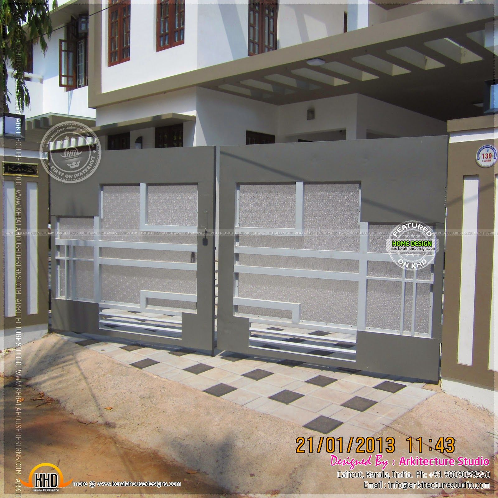 Gate Designs for Homes Sri Lanka. simple attractive gate in kerala design   Fachada   Portas
