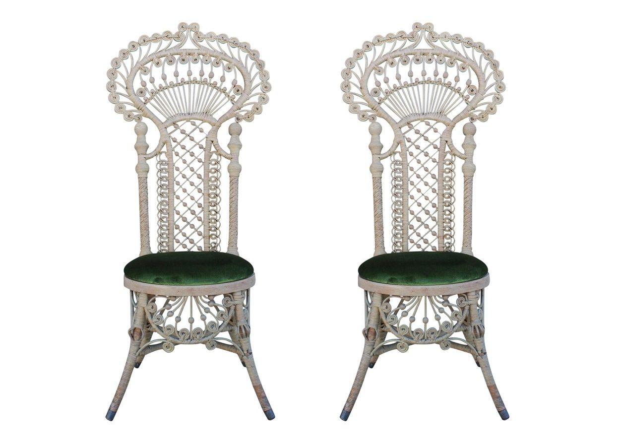 Antique Victorian Wicker Chairs
