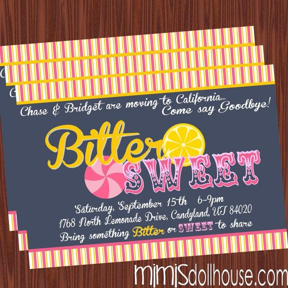 Moving Party Invitation Printable Bittersweet by MimisDollhouse - farewell invitation template