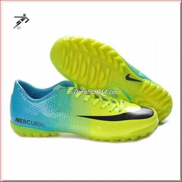 Italian Football Tennis Running Shoes Green Black Blue Nike Mercurial  Victory IV Cr7 Mens Astro Turf