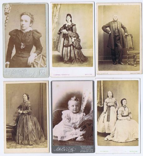 CDV Portraits Job Lot Of 6 X Carte De Visite All By MAIDSTONE Studios