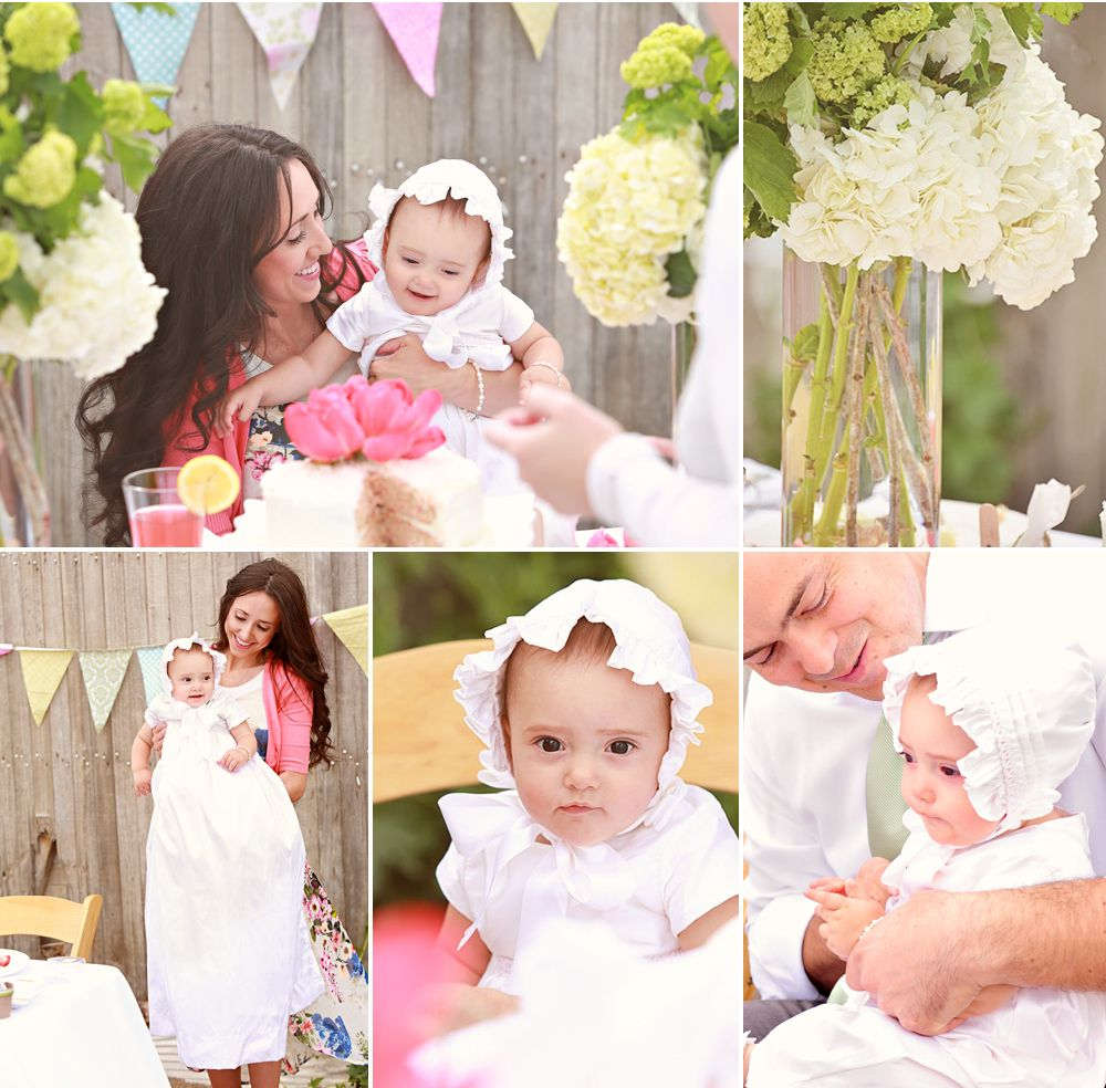 Christening party ideas an outdoor summer christening for Baby girl baptism decoration ideas