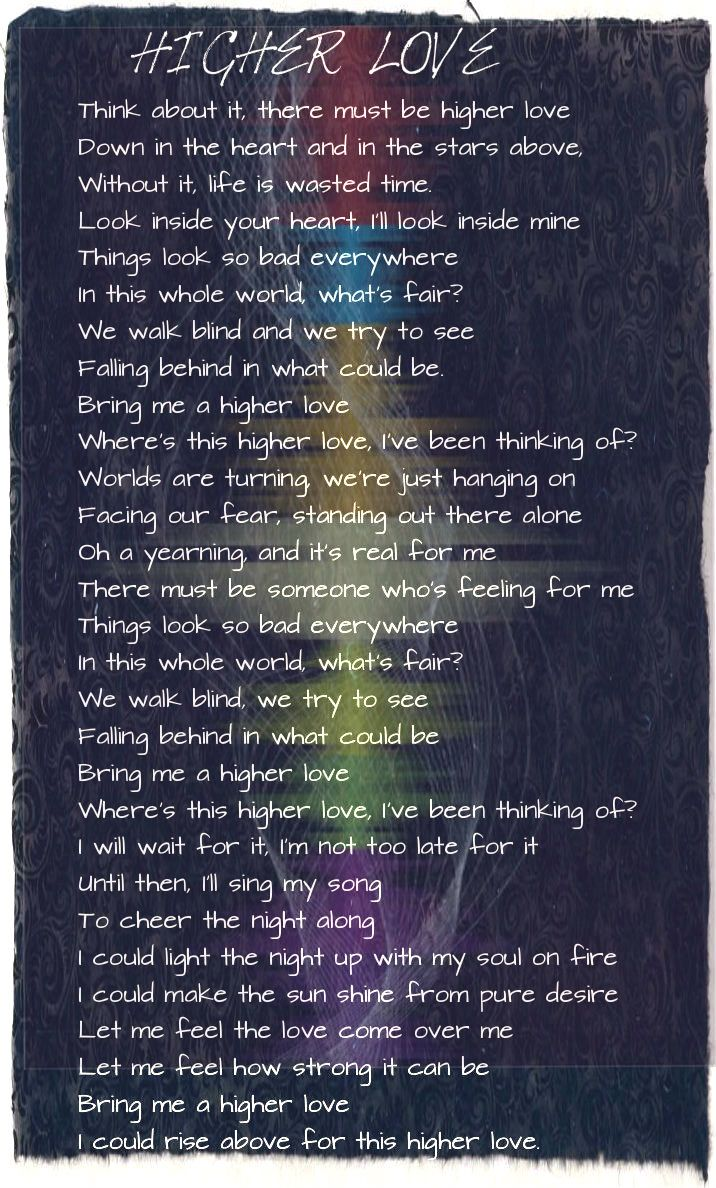Listenhigher Love Lyrics Written By Steve Winwood Music In
