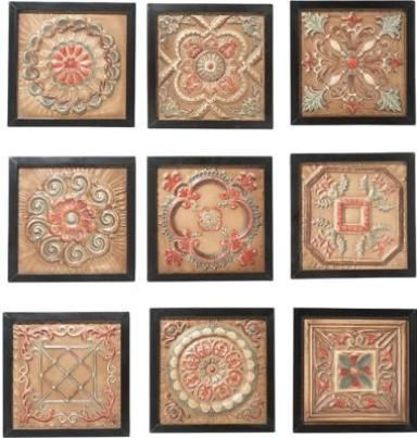 Copper Wall Decor cbk styles 10164 wall decor as 9 antique ceiling tile motifs nine