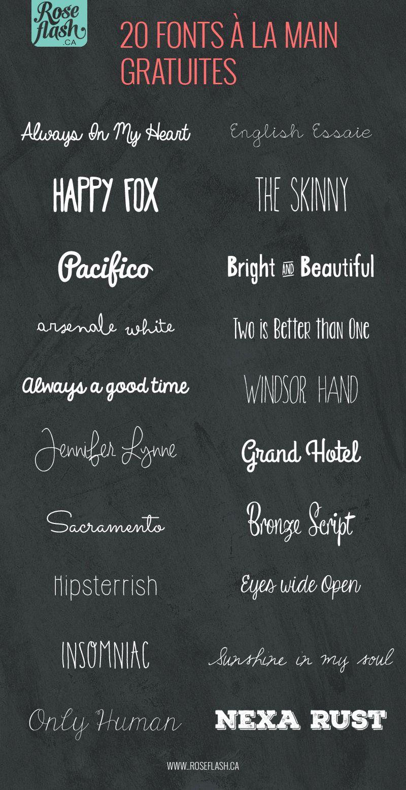 20 Fonts A La Main Gratuites