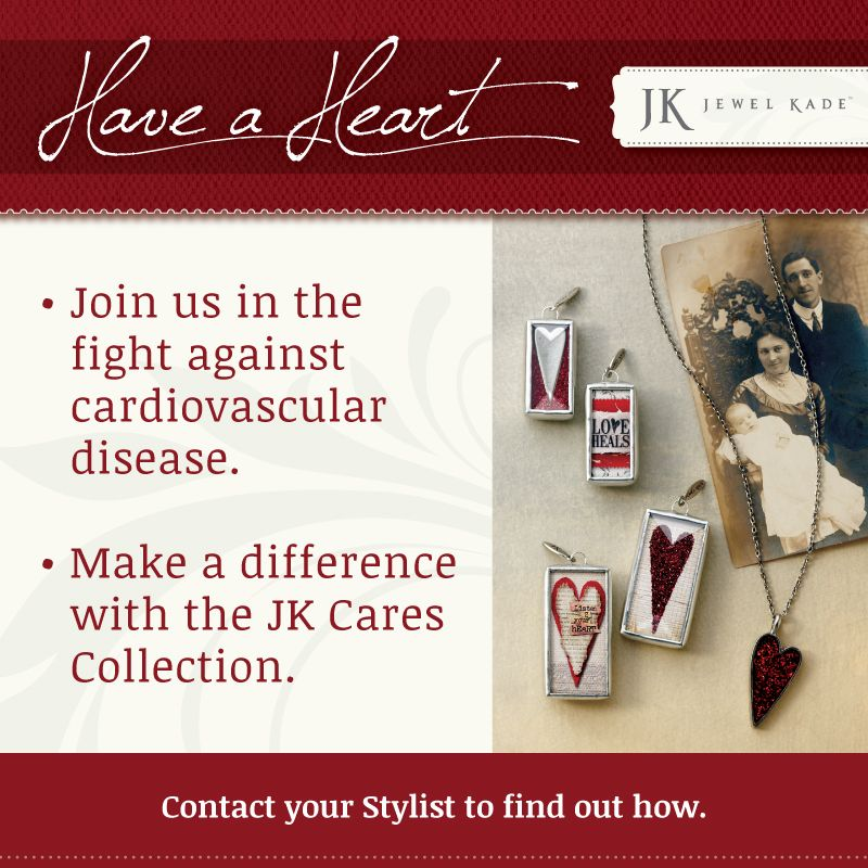 JK Cares Collection - 5% of the sale of each item goes to national breast cancer research or the American Heart Association.  $40