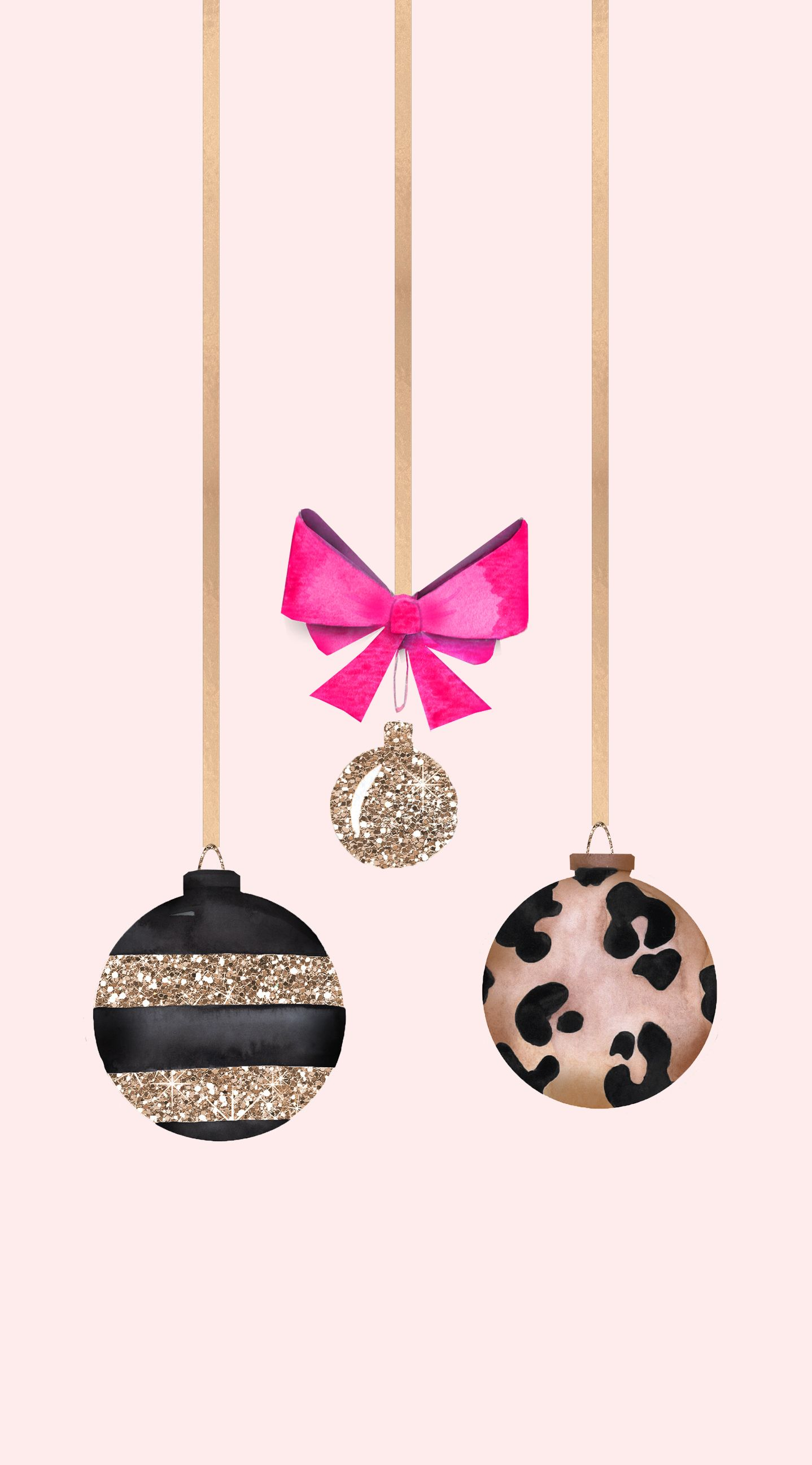Christmas bobble pink and gold Weihnachten handy