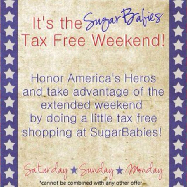 memorial day weekend tax free