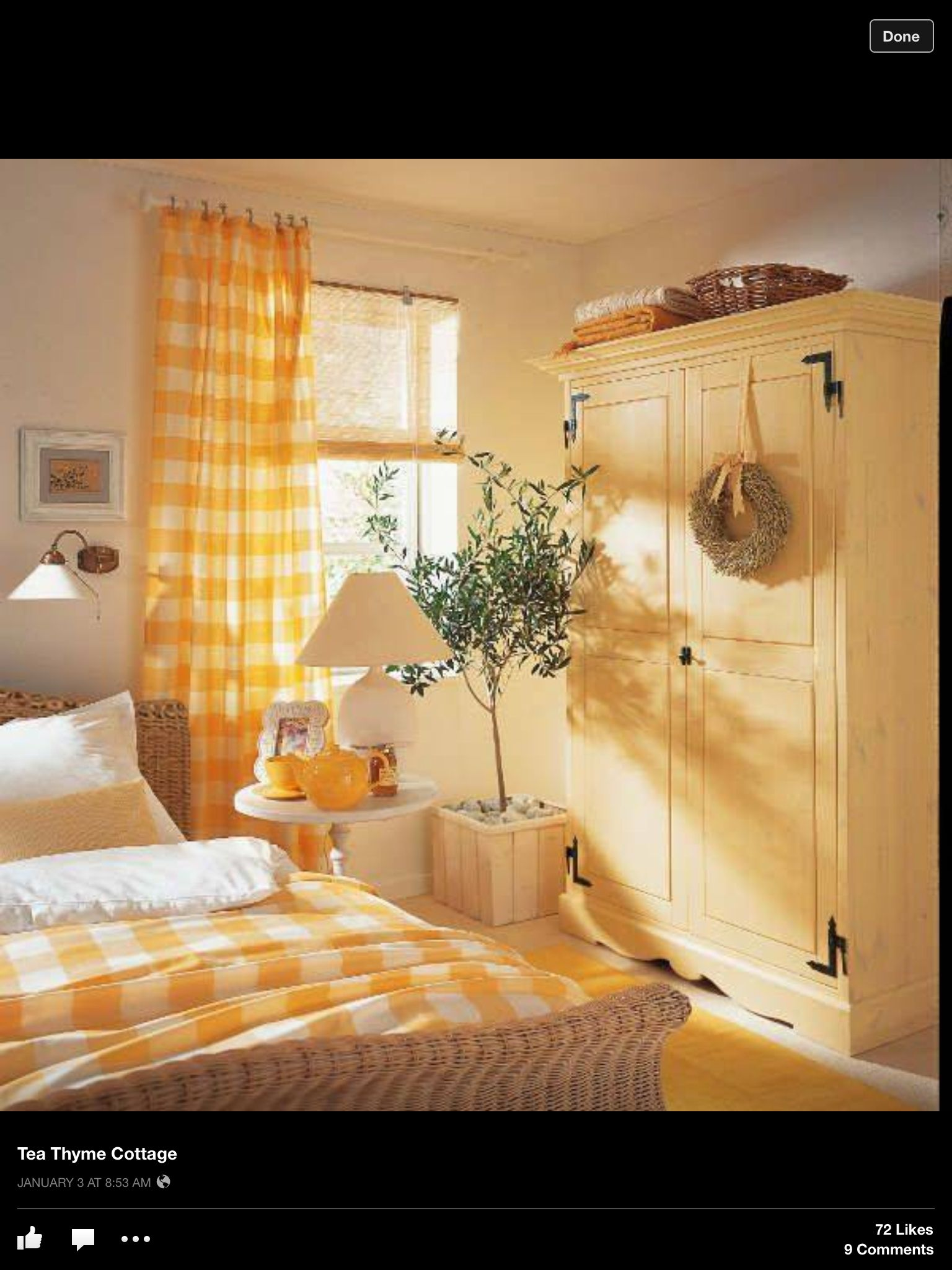 Love yellow | Quartos | Pinterest | Yellow cottage, Bedrooms and ...