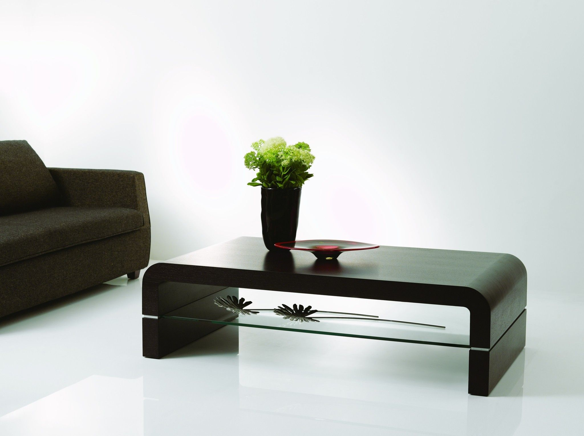 Modern black coffee table with glass storage underneath and black modern black coffee table with glass storage underneath and black vase entrancing top geotapseo Images