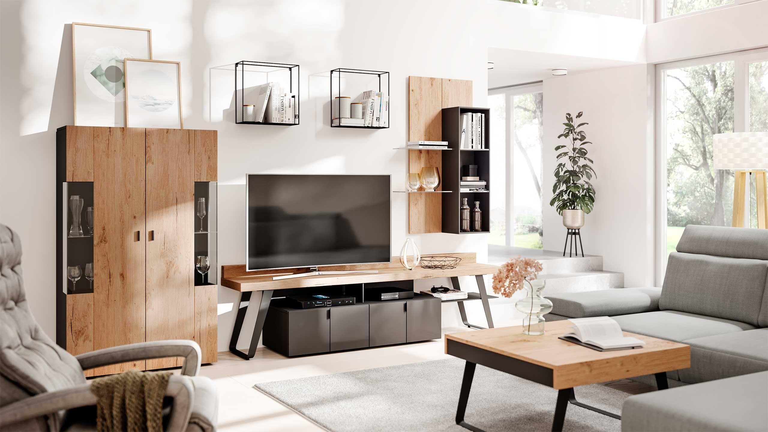 Interliving Wohnzimmer Serie 2105 Interliving In 2020 Wohnen Wohnzimmer Wohnwand
