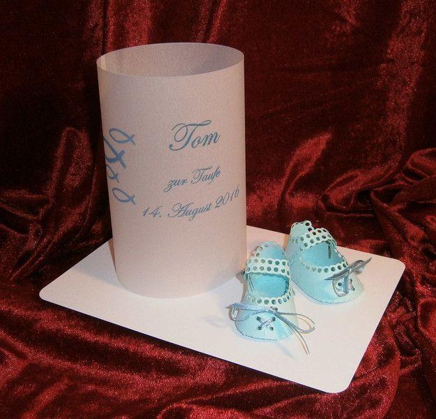 Dekoration - Tischlicht zur Taufe Traufe - ein Designerstück von Bastelkoenigin-de bei DaWanda