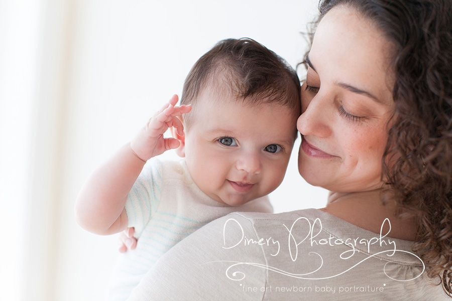 simple three month portraits, mom and baby pose ideas, sweet 3 month photo ideas, natural light portrait studio © Dimery Photography 2013