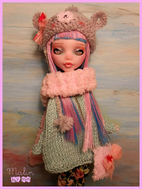 Custom Monster High Draculaura: Malin by MiriamMeri, via Flickr    #doll #monsterhigh #toy