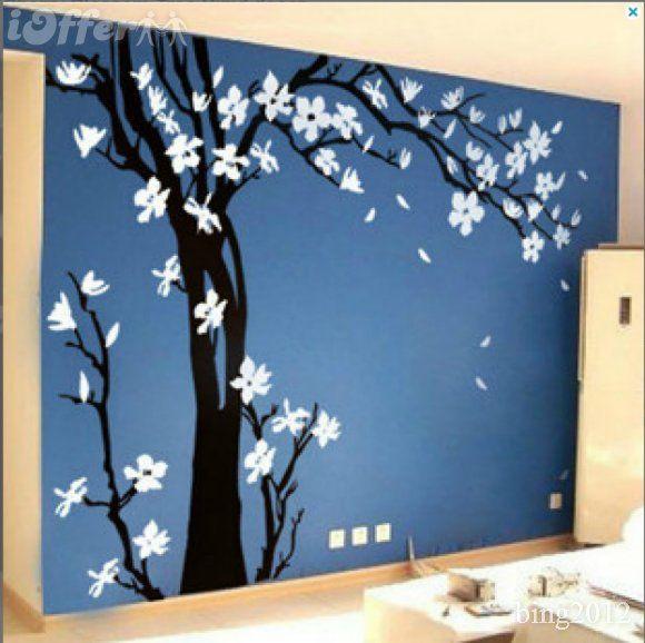 Pix For U003e Black Cherry Blossom Wall Decal