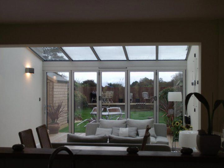 Glass Roof Over Sitting Area May Be An Alternative To Side Return