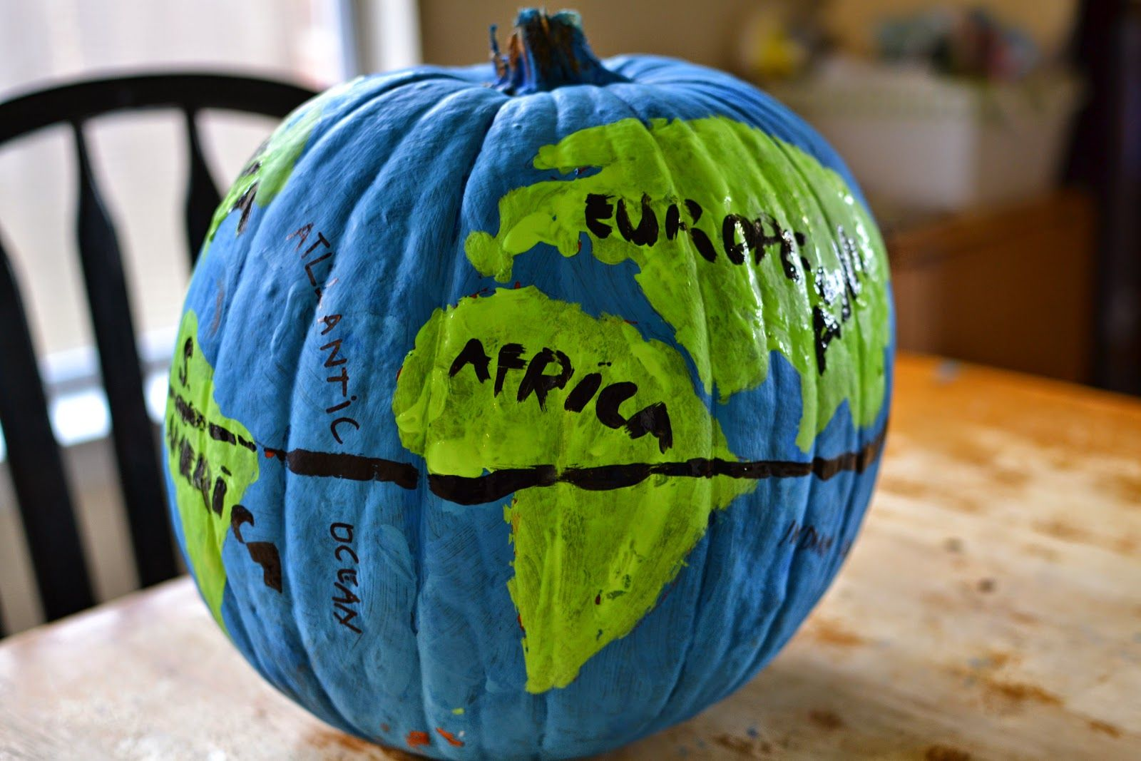 Make A Globe Out Of A Pumpkin Great For Teaching
