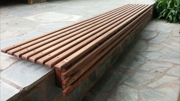 Prime Outdoor Wooden Slat Bench Seat Outdoor Seating Creativecarmelina Interior Chair Design Creativecarmelinacom