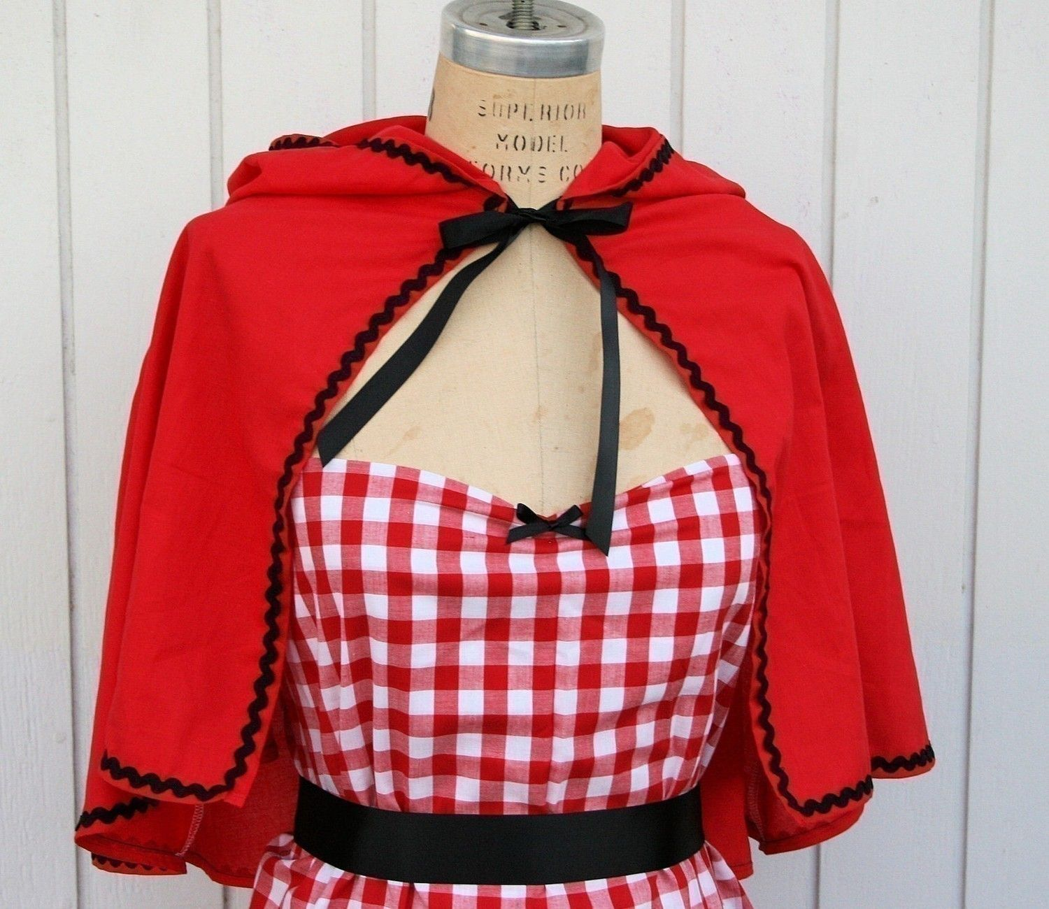 Little Red Riding Hood cape Storybook red CAPE black ric rac trim fairy tale costume. $28.00 via Etsy. & Jessie Toy Story costume apron womens costume apron cowgirl ...