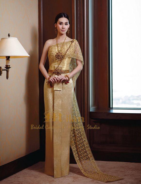 Thailand Chakri wedding dress | Thai traditional dresses ...