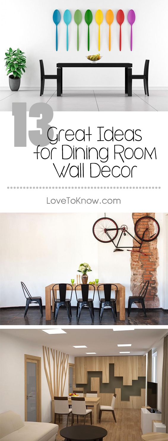 The dining room wall is a large open canvas just waiting to bring a