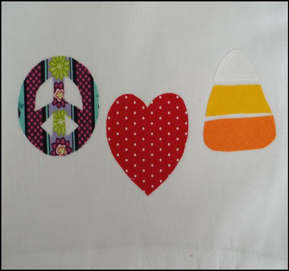 PeaceLove Candycorn PDF Applique Template by SimplyApplique, $1.50
