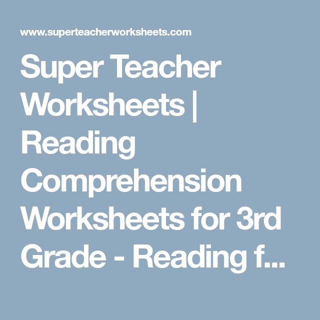 Super Teacher Worksheets | Reading Comprehension Worksheets for 3rd ...