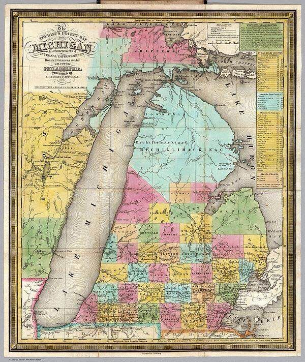 Michigan Early 1800s Maps Of All Kinds Pinterest Map Of