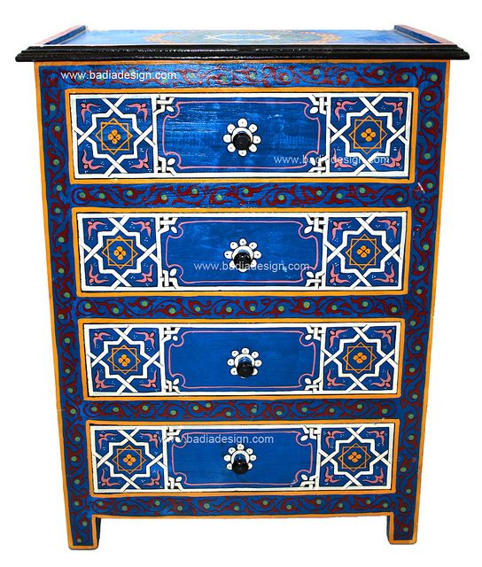 Moroccan Hand Painted Dresser Hand Painted Dressers Painted Night Stands Painted Dresser