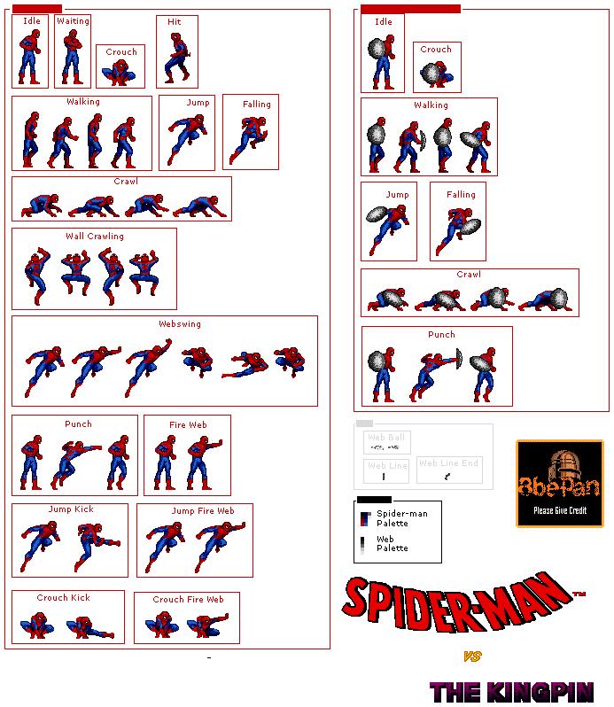 Image Result For Sega Genesis Spiderman Sprite Random Stuff Sega