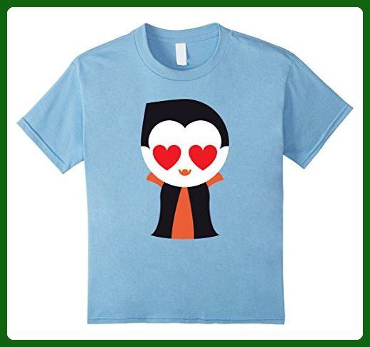 Kids Vampire Emoji Many Face Emotion Shirt T-Shirt Death Tee 6 Baby Blue - Fantasy sci fi shirts (*Amazon Partner-Link)