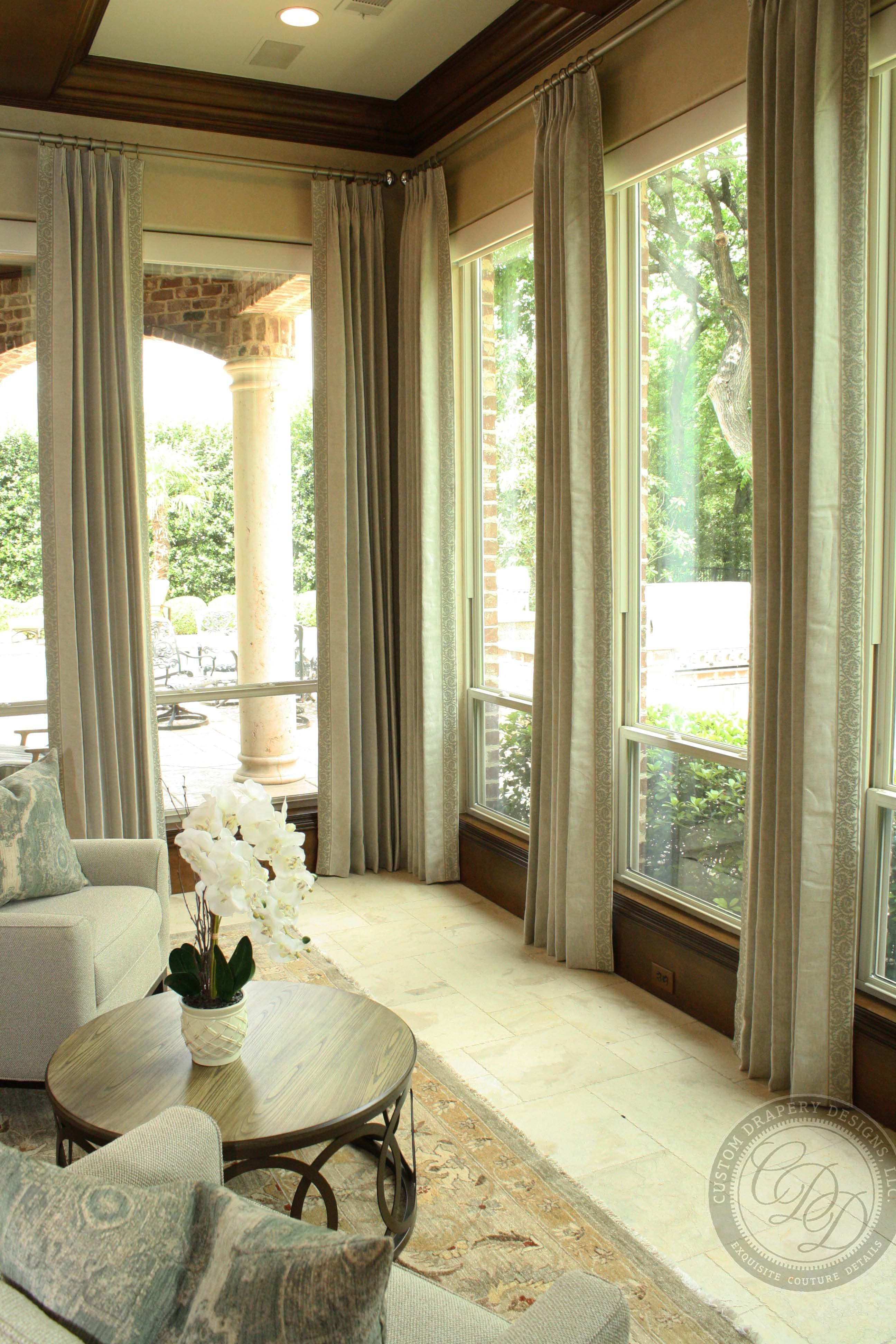 Custom drapery designs llc bringing the outside in with neural