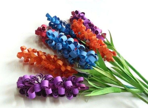 Com hacer flores de goma eva Flores de papel foami goma eva