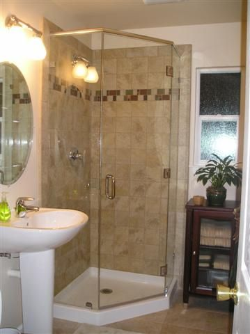 Custom Made Neo Angled Shower With Images Bathroom Remodel