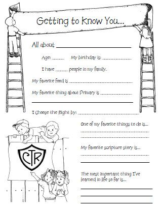 Cute Spotlight Sheet To Do On Kids Bdays In Primary  ChurchLds