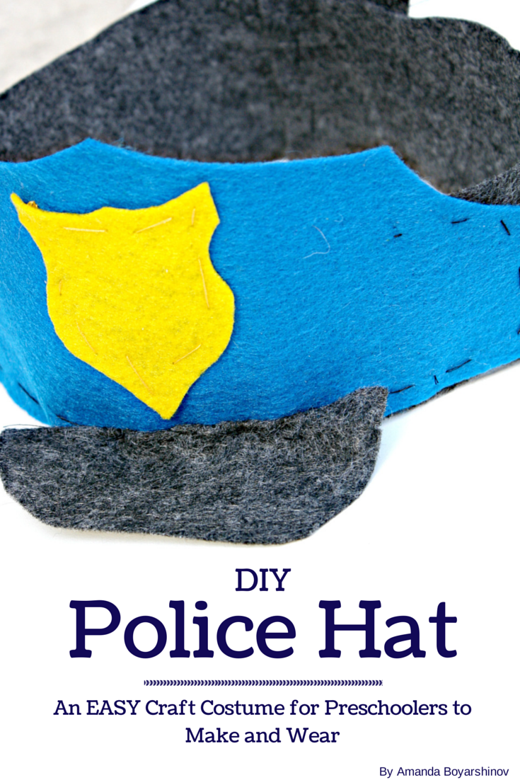 eb0b11b49d5 DIY felt Police hat kids can help make and then use in pretend play (Life  Over C s)  playfulpreschool