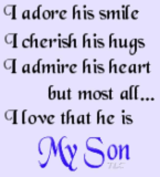 Love You Son And Thank You For The Wonderful Words You Are With Me