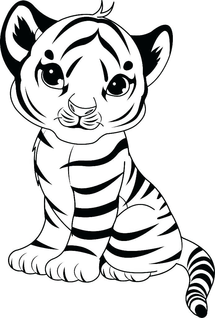Tiger Coloring Pages for Kids #coloringpageseasy # ...