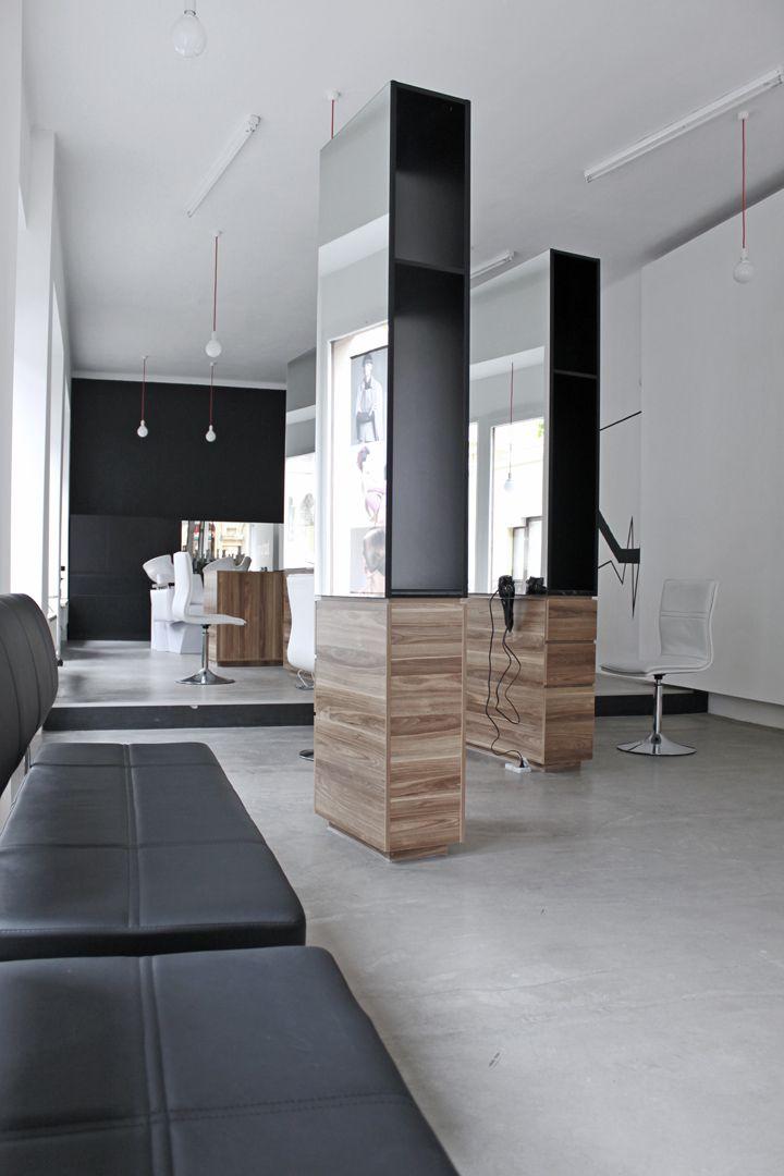 Salon de coiffure design hairdressers pinterest - Decoration salon de coiffure et d esthetique ...
