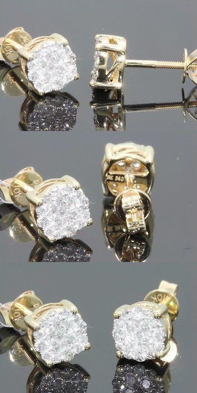 Earrings Studs 14085 10k Yellow Gold 55 Carat Mens Womens 6 Mm 100