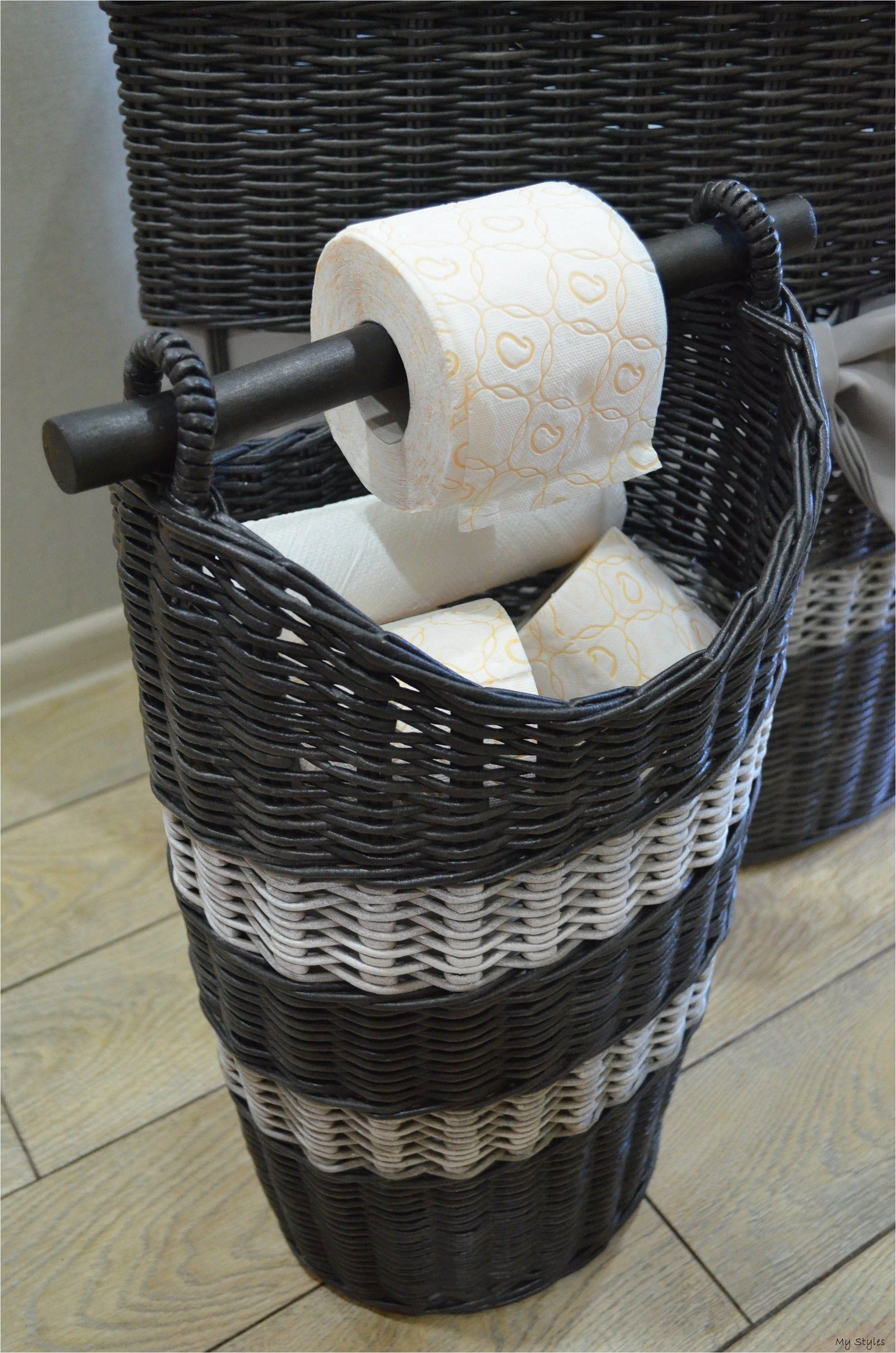 Storage Toilet Paper Toilet Paper Basket Spare Roll Holder Toilet Paper Basket With Handle Wicker Bathroom B In 2020 Bathroom Baskets Toilet Paper Toilet Paper Holder