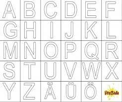 Bildergebnis Fur Buchstaben Vorlagen Zum Ausdrucken A Z Buchstaben Vorlagen Zum Ausdrucken Buchstaben Vorlagen Buchstabenerkennung