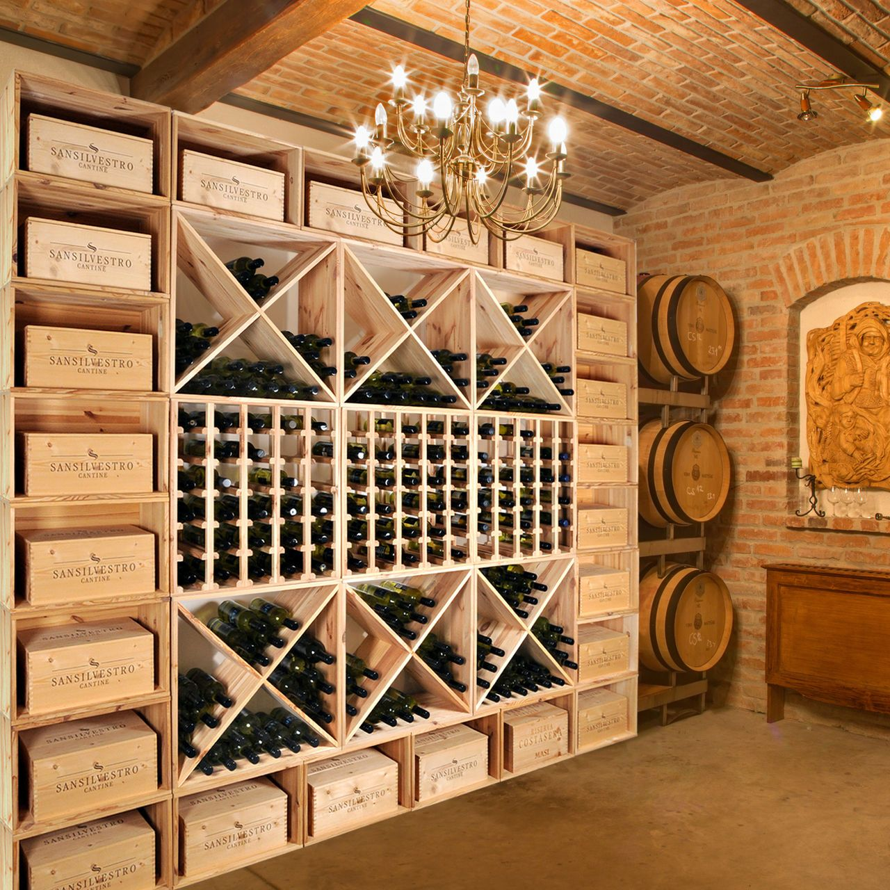 Weinkeller bauen selber machen  Weinregalsystem VINCASA - Modular - 60cm Raster - Flaschenregale ...