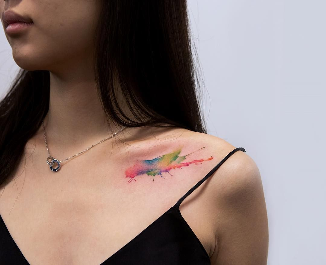 Watercolor Paint Splash Tattoo With Images Tattoos Tattoos