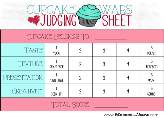 Cake Baking Competition Judging Criteria