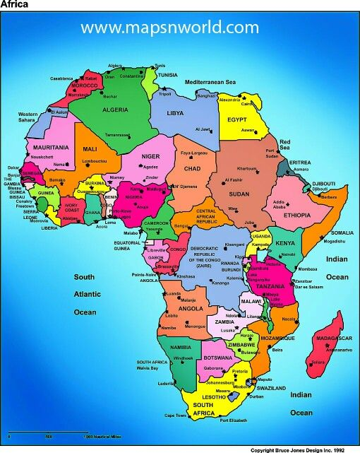 Countries Of African Continent Africa Pinterest Africa Map